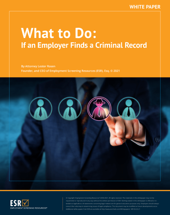 What to Do if an Employer Finds a Criminal Record
